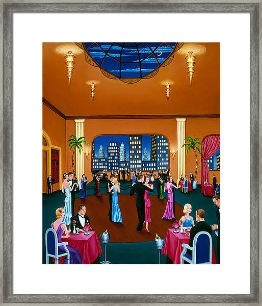 On The Town Framed Print