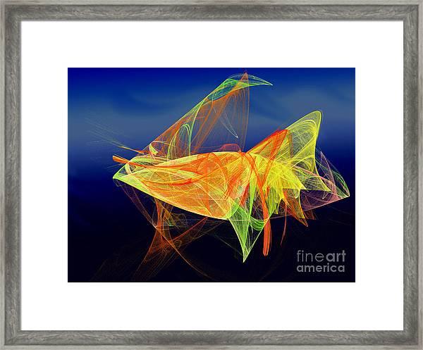 One Fish Rainbow Fish Framed Print