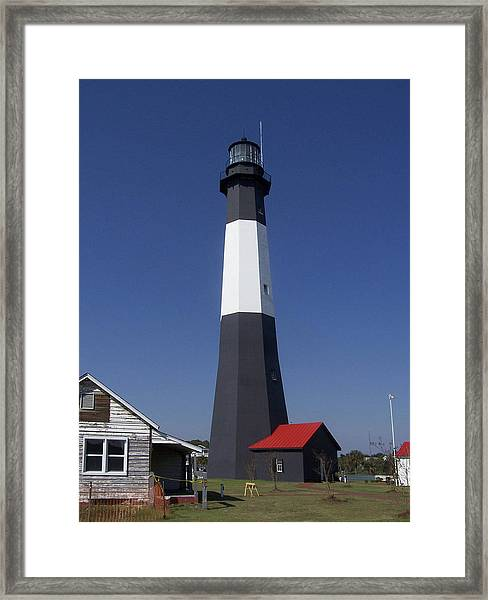 One Strip Lighthouse Framed Print