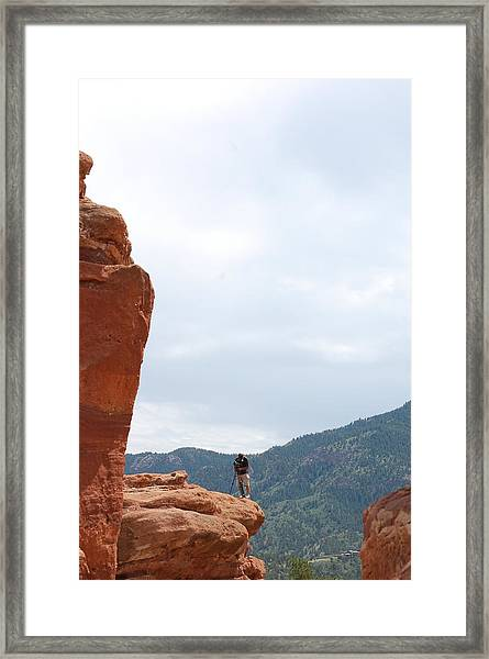 Only A Photographer Would Do.. Framed Print