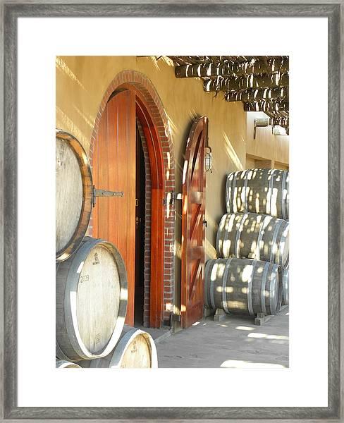 Open Vineyard Door Framed Print