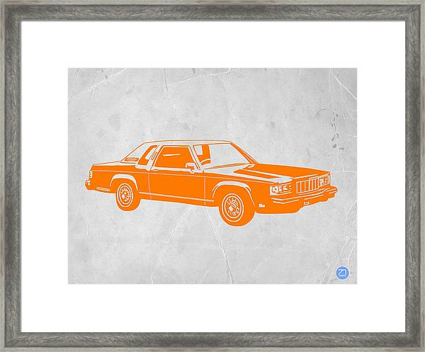 Orange Car Framed Print