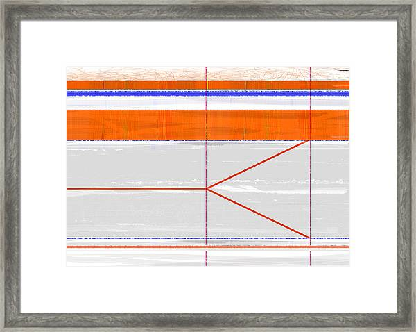 Orange Triangle Framed Print