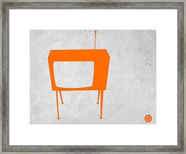 Orange Tv Framed Print