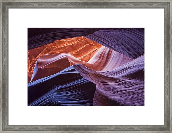 Orange Up Framed Print