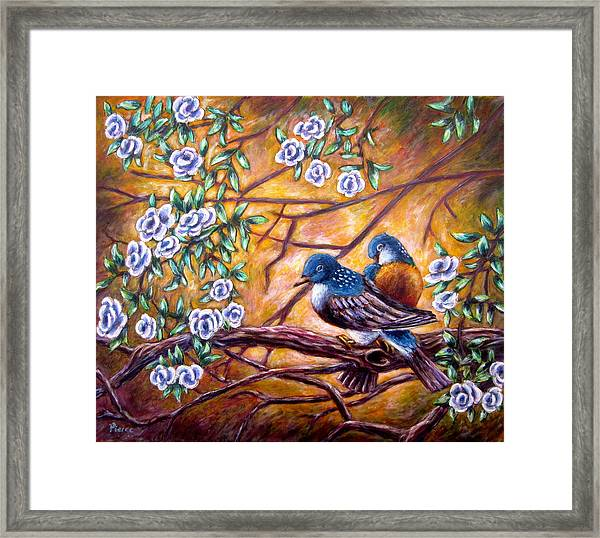 Oriental Birds Framed Print