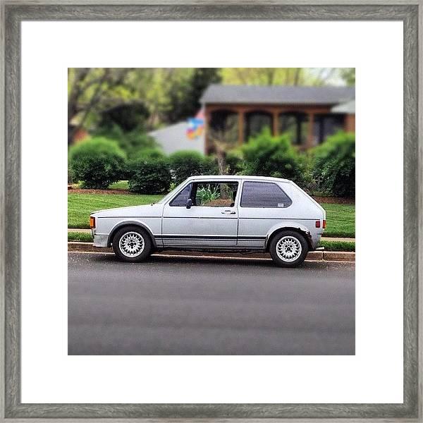 Original. #cars #vw #volkswagen #golf Framed Print