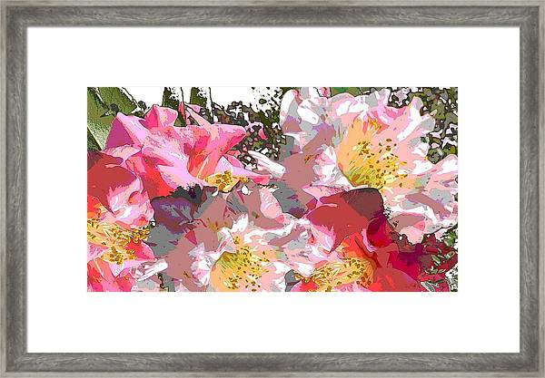 Framed Print featuring the painting Original Fine Art Digital Camelias 1c by G Linsenmayer