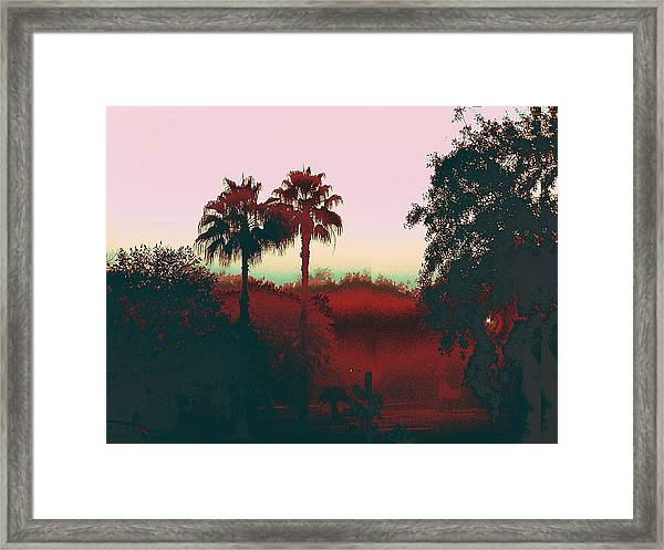 Original Fine Art Digital Gulf Coast Misty Morning Framed Print