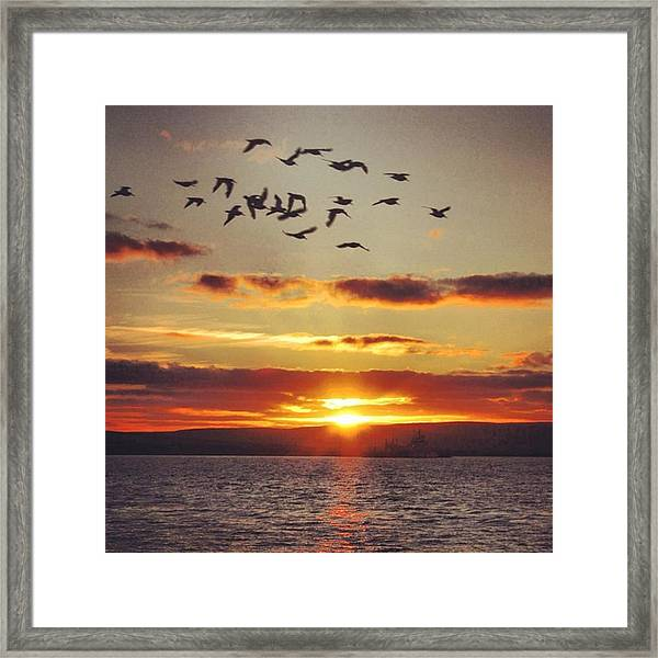 Orkkney's Sunset Framed Print