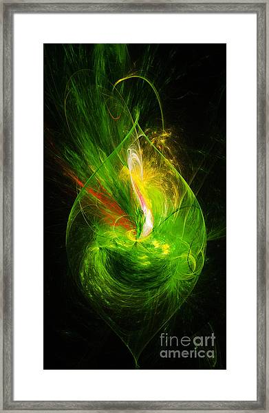 Ornate Emerald Green Drop Framed Print