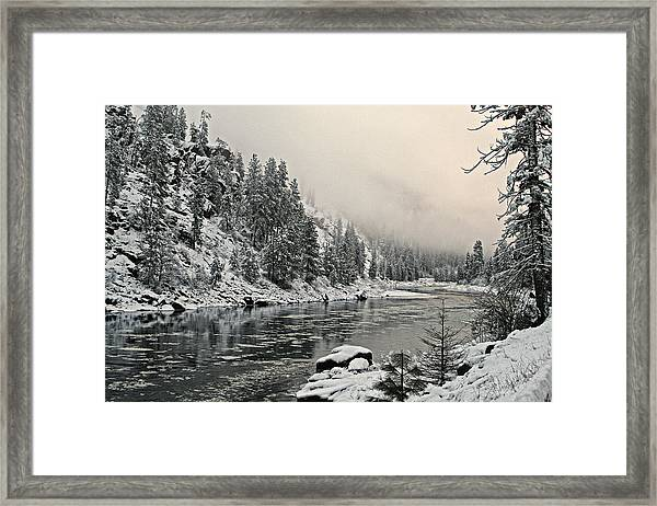 Orofino Snow Clearwater River Framed Print