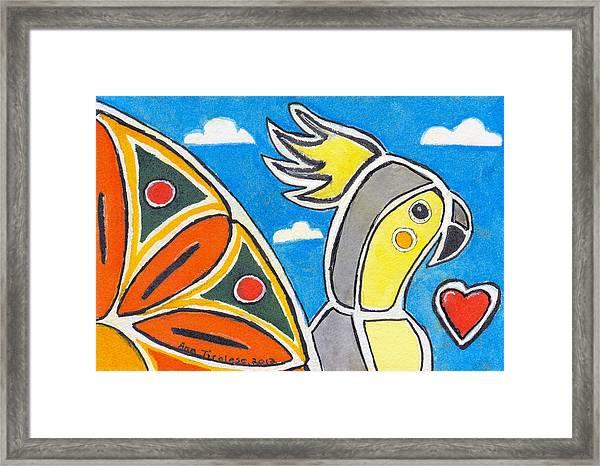 Our Heart Bird Oscar Framed Print
