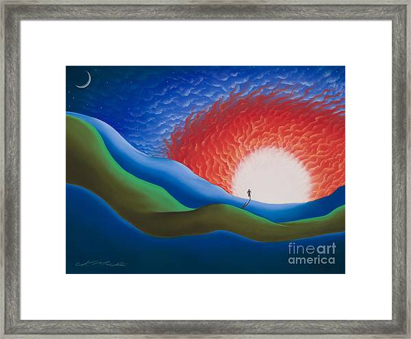 Out Of The Sun Framed Print