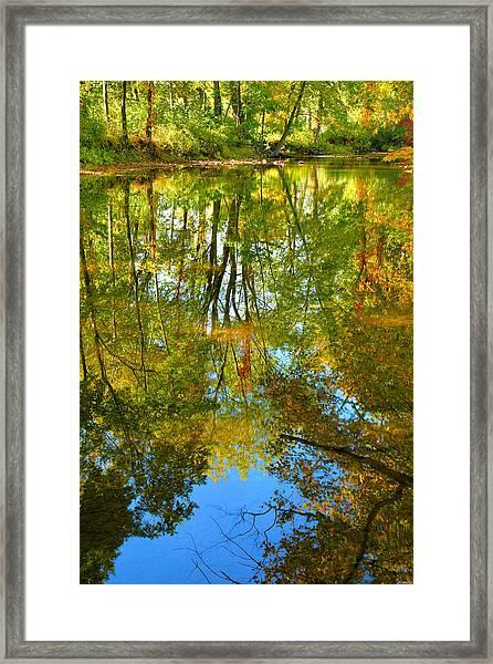 Owens Creek In Autumn II Framed Print
