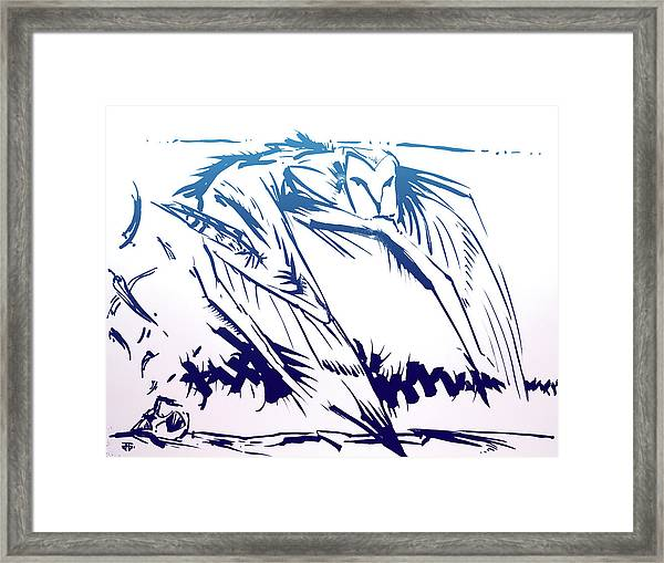 Owl Wind Framed Print