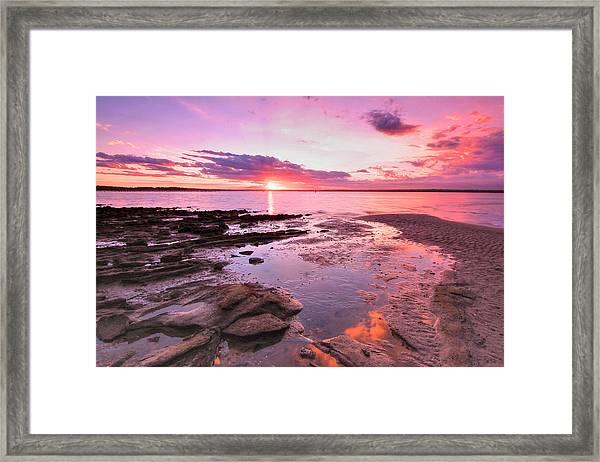 Oyster Cove Sunset Framed Print