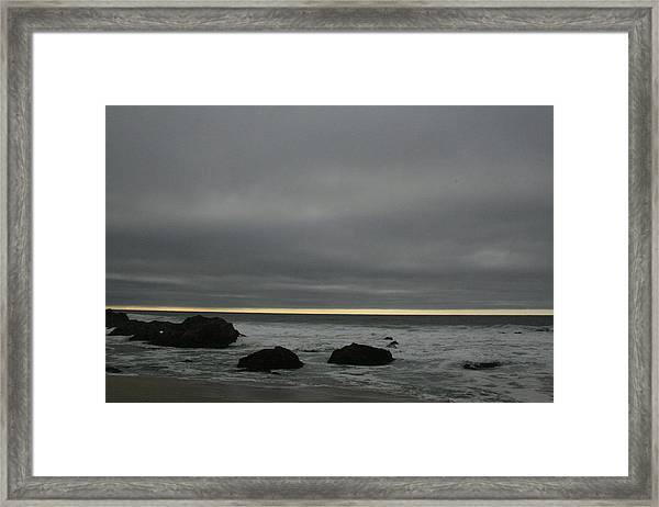 Pacific Ocean At Bodega California Framed Print