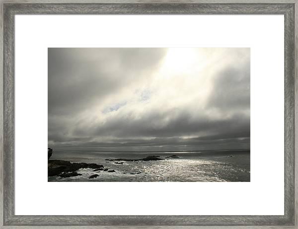Pacific Ocean At Point Lobos California Framed Print