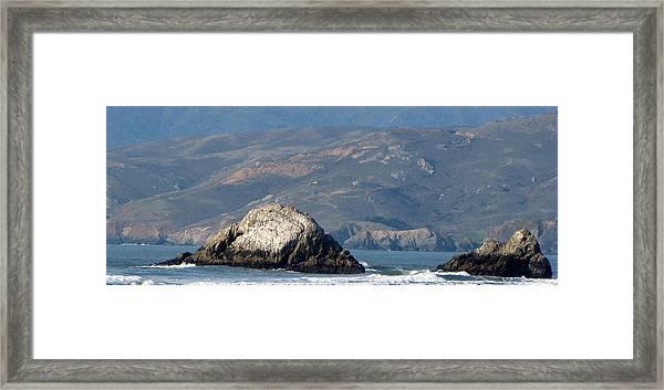 Pacific Ocean By San Francisco Framed Print