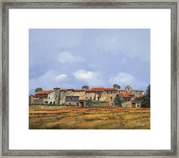 Paesaggio Aperto Framed Print