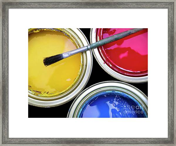 Paint Cans Framed Print