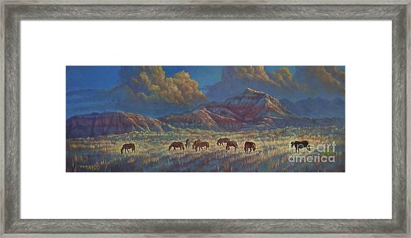 Painted Desert Painted Horses Framed Print