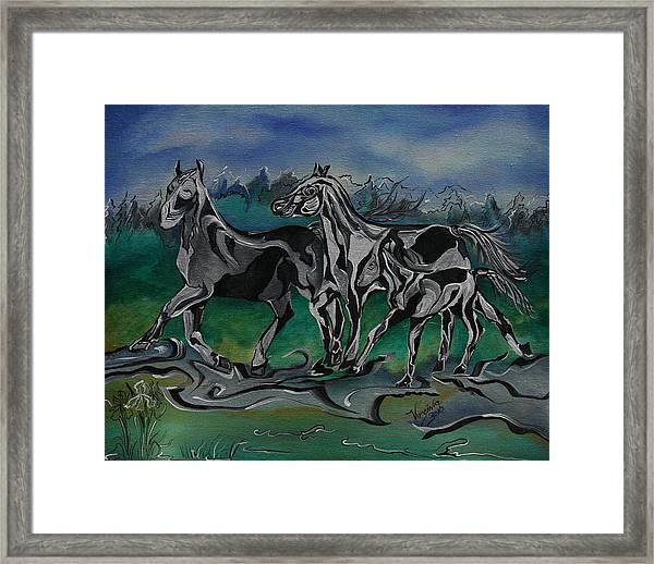 Painted Horses Framed Print
