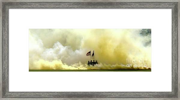 Panoramic Us Army Graduation Framed Print