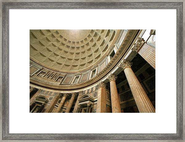 Pantheon Rotunda Columns Framed Print