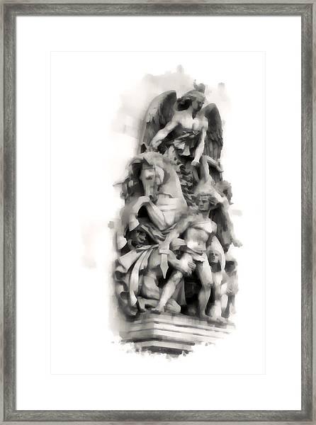 Paris Statuary Framed Print
