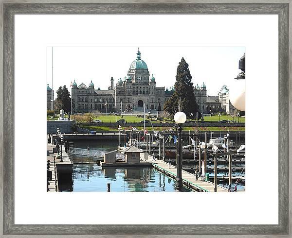 Parliament Inner Habrour Victoria Framed Print