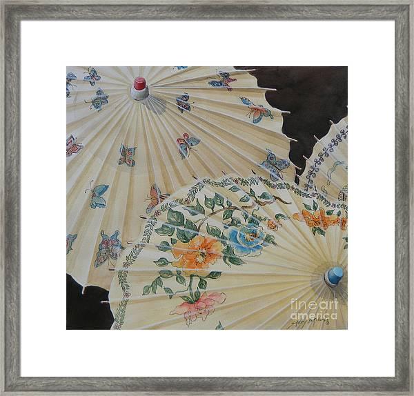 Parosol Parade Sold  Framed Print
