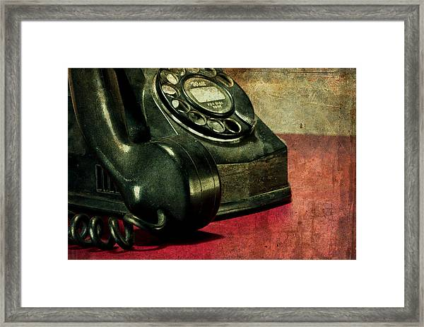 Party Line II Framed Print