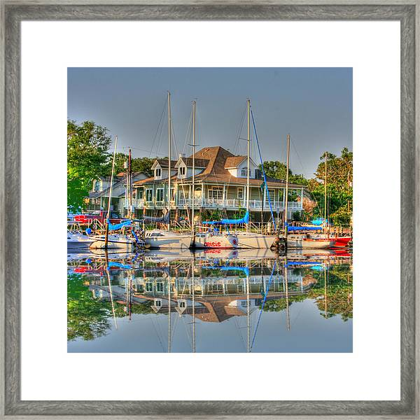 Framed Print featuring the photograph Pascagoula Boat Harbor by Barry Jones