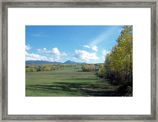 Pastoral Babine Range Panorama Framed Print