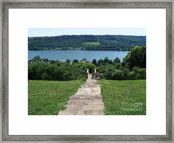Path To Rankin House Framed Print