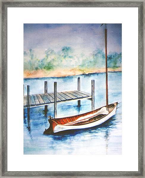 Pea Pod Boat Framed Print