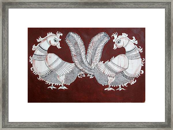 Peacocks Framed Print