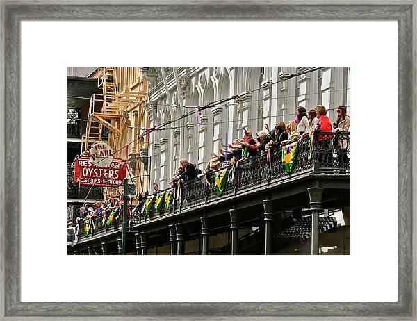 Pearl Restaurant Parade Spectators Framed Print