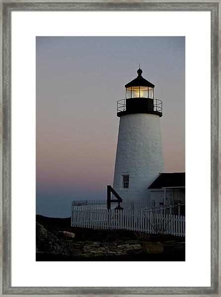Pemaquid Point Aglow Framed Print