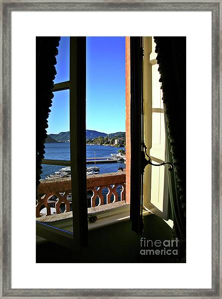 Villa D'este Window Framed Print