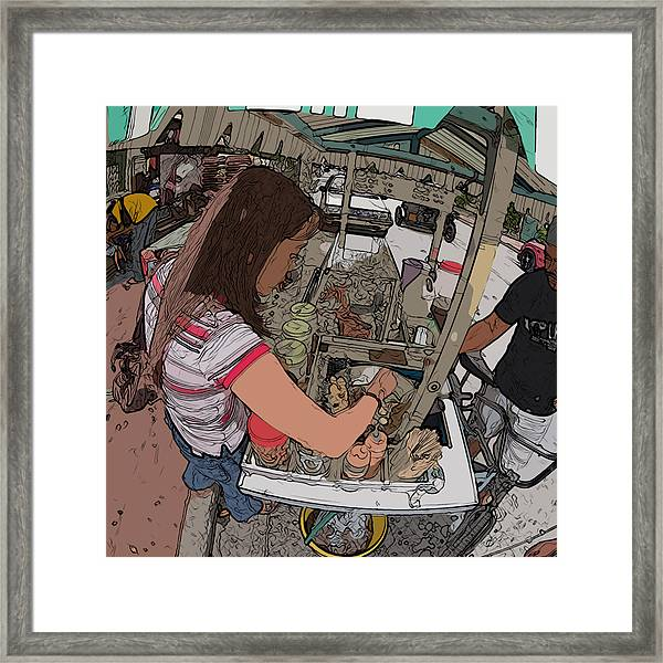 Philippines 91 Street Food Framed Print