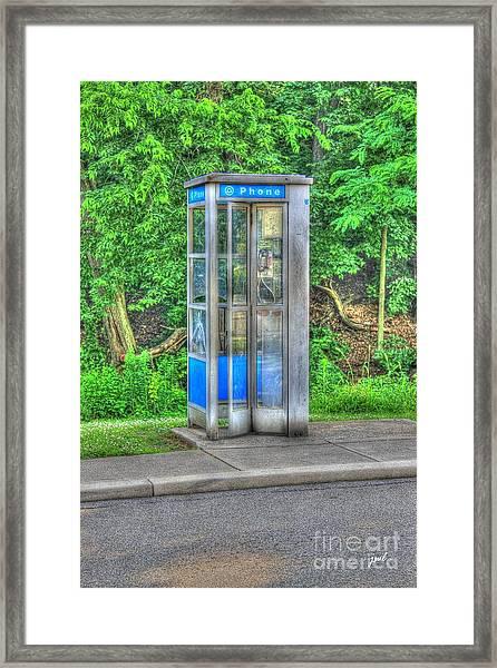 Phone Booth At Eden Park Framed Print