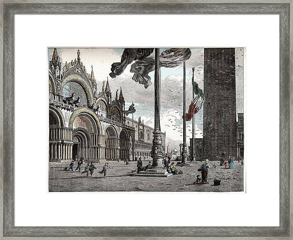 Piazza San Marco In Venice Framed Print