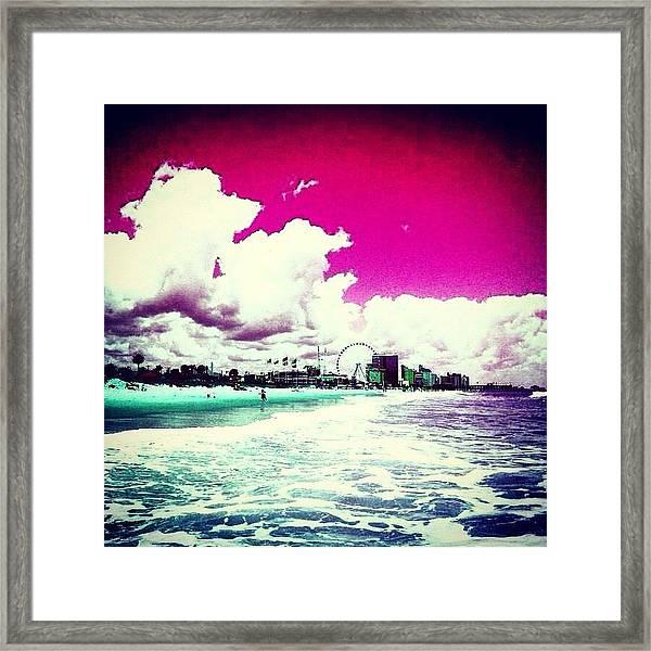 Pic Redo #beach #summer #prettycolors Framed Print