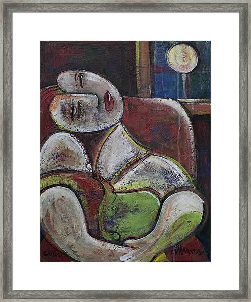 Framed Print featuring the painting Picasso Dream For Luna by Laurie Maves ART