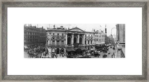 Piccadilly Circus - Londons West End - C 1909 Framed Print