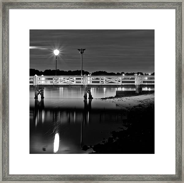 Picketted Jetty Framed Print