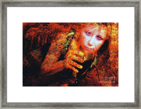 Picnic In The Forest Framed Print